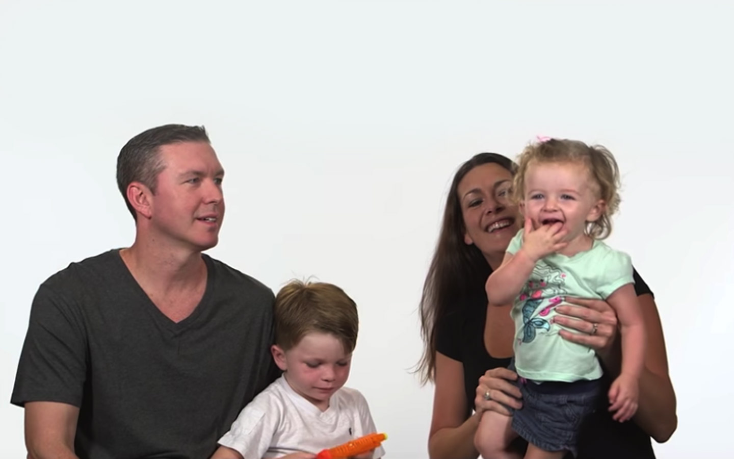Cochlear recipient Nora and her family