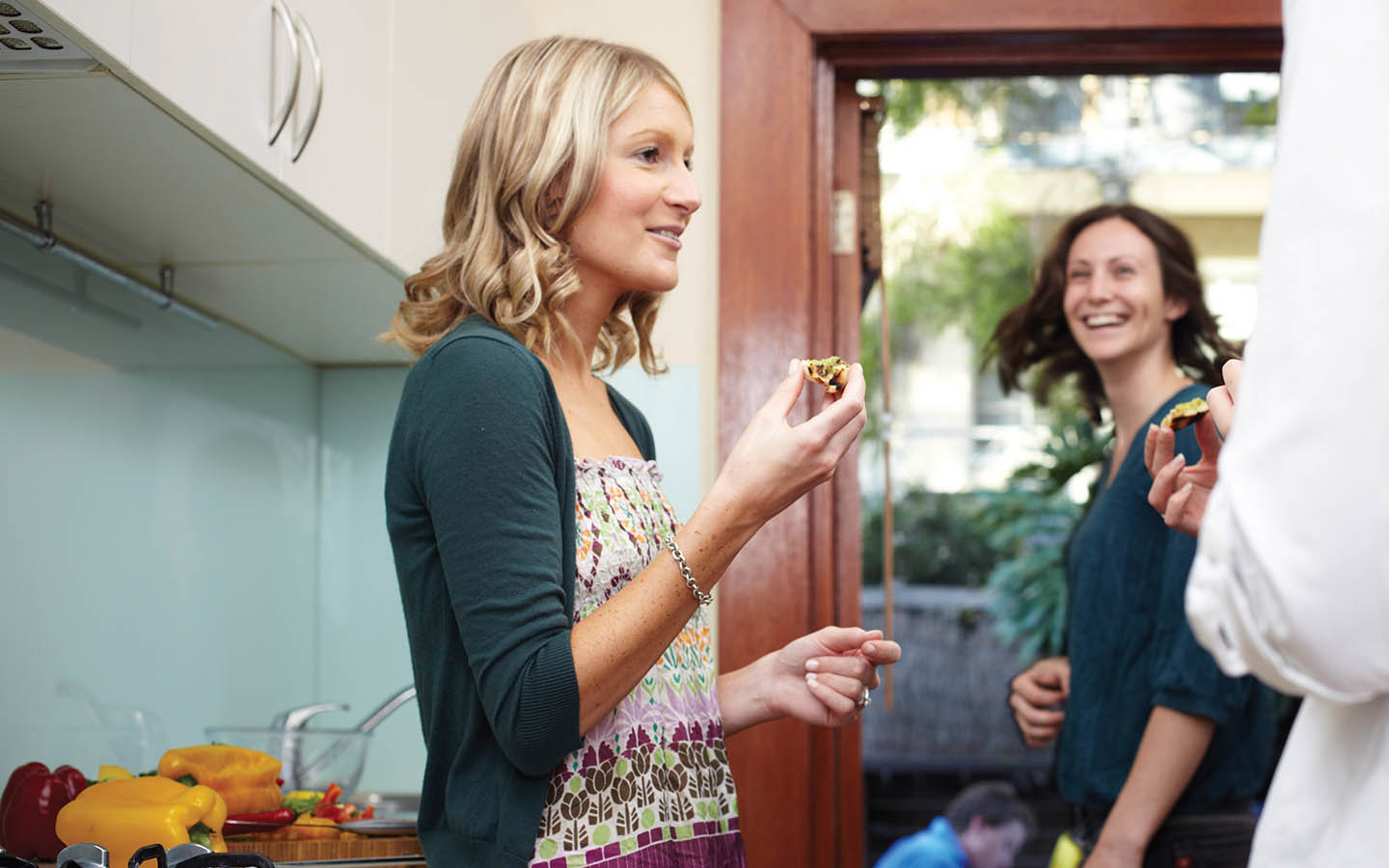 Woman enjoying a gathering with friends